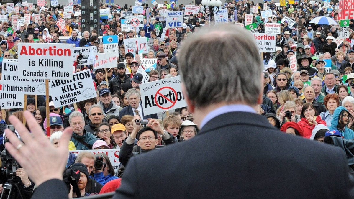Ontario Conservative MP Stephen Woodworth delivers a speech at the anti-abortion March For Life rally in Ottawa on May 10, 2012.