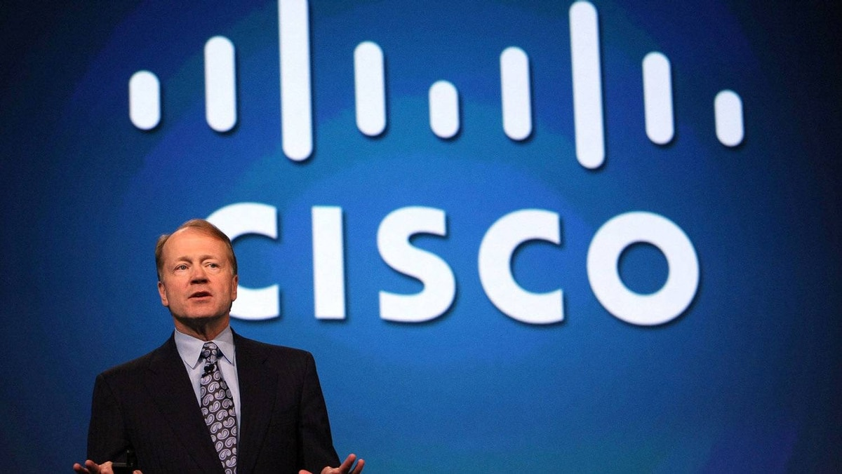 Cisco Chairman and CEO John Chambers delivers a keynote address during the RSA Conference April 22, 2009 in San Francisco, California. The Annual RSA conference features keynote speakers and seminars on the topic of cyber security runs through April 24.