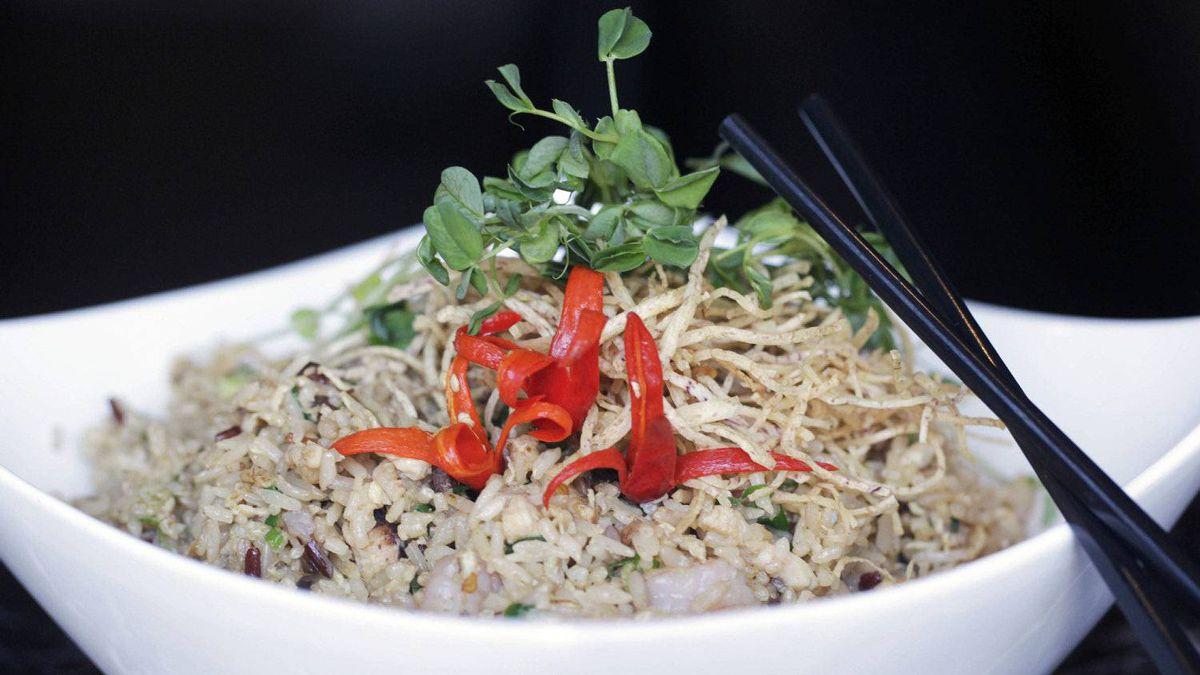 XO Fried Rice is served at Chinois, 1035 Mainland St. in Vancouver.