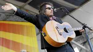 Wilco lead singer Jeff Tweedy performs at theNew Orleans Jazz and Heritage Festival in New Orleans, Thursday, May 5, 2011.