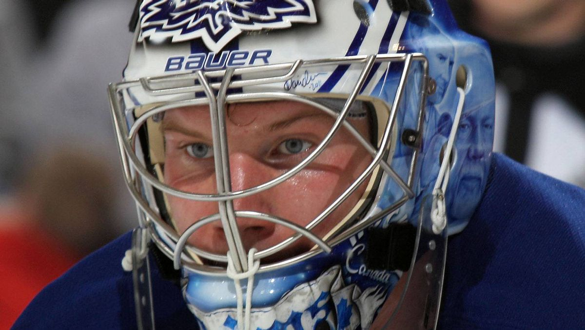 James Reimer #34 of the Toronto Maple Leafs altered his off-season routine this year. (Photo by Bruce Bennett/Getty Images)