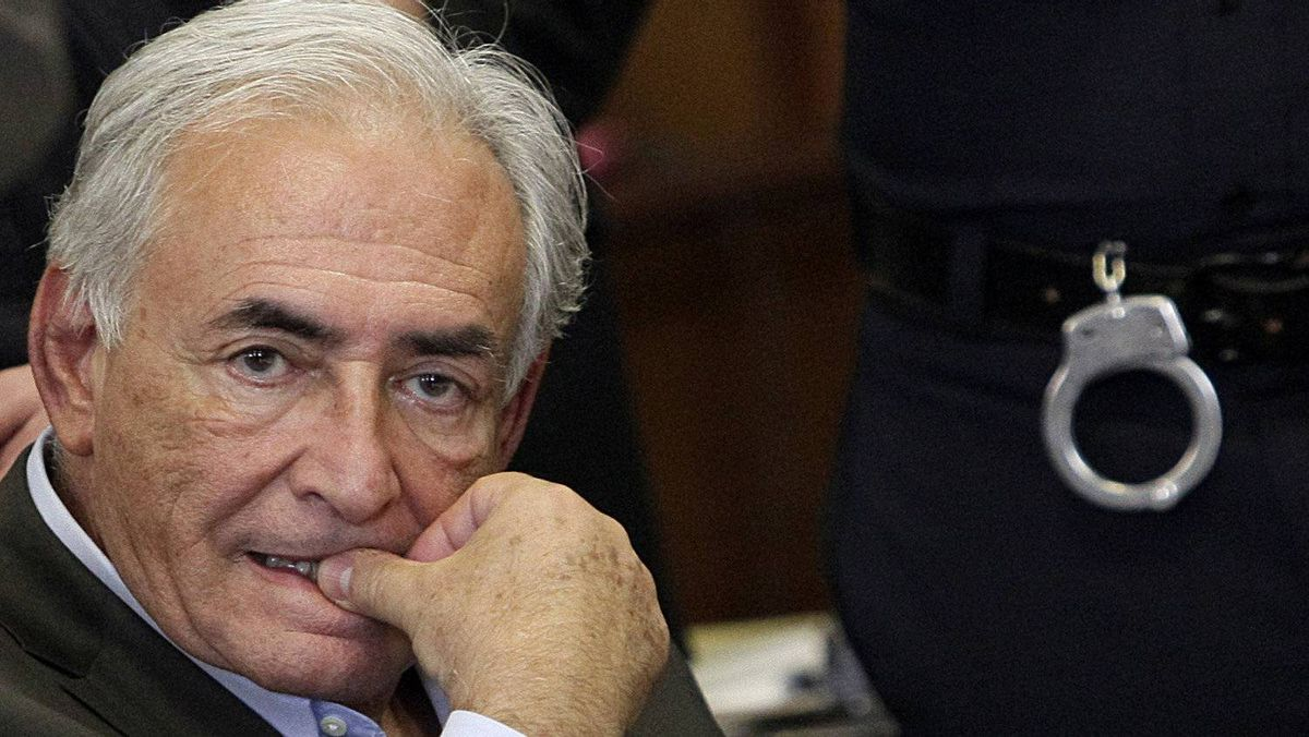In this dated May 19, 2011 filed photo shows former IMF head Dominique Strauss-Kahn sits during his bail hearing at State Supreme Court, in New York.