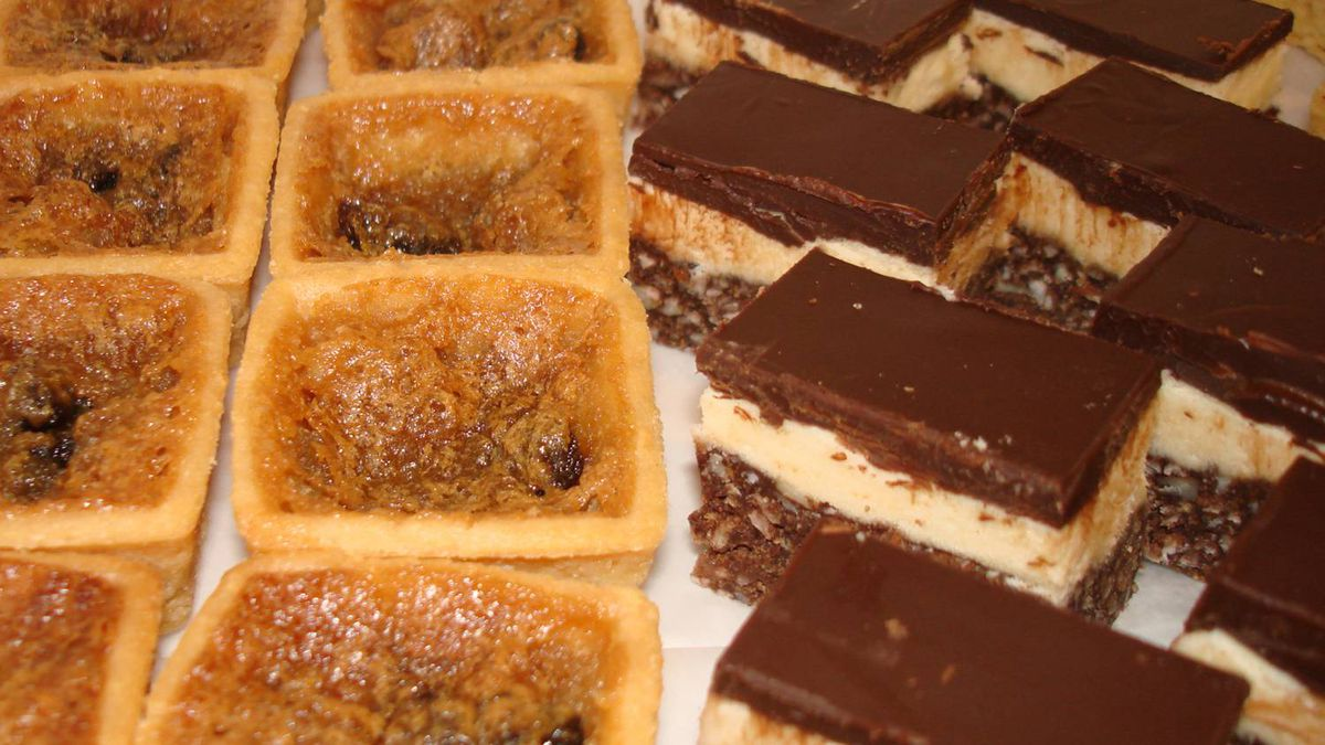 Butter tarts and Nanaimo bars made by Canadian Sweets and Treats, based in Washington D.C.