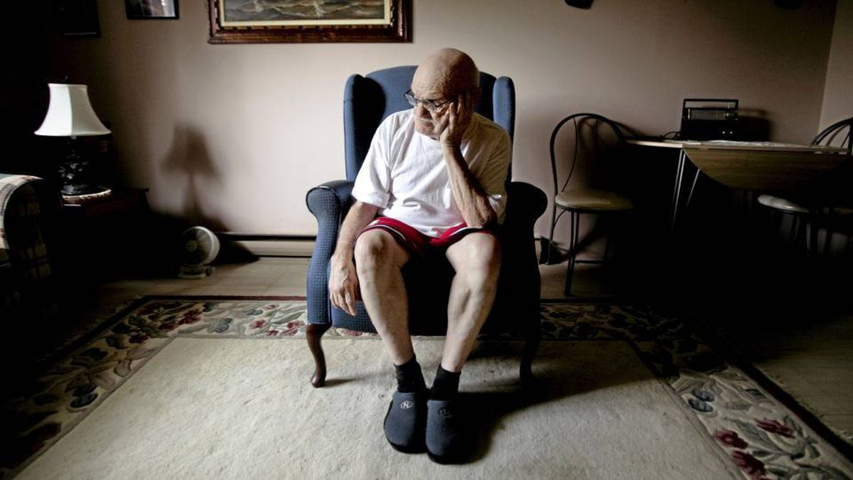 Doug Tebow, 73, at his home in Peterborough, Ont. Mr. Tebow spent 17 years at the Huronia Regional Centre, now the subject of a potential class-action lawsuit.