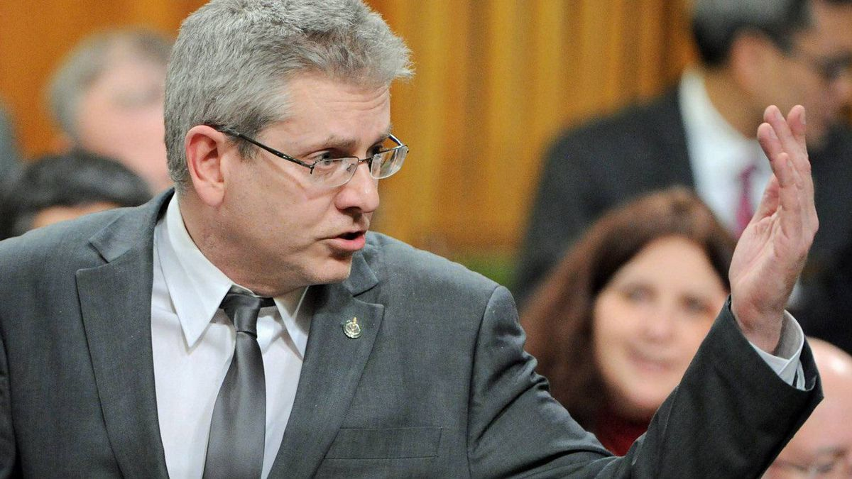 NDP MP Charlie Angus speaks during Question Period in the House of Commons on Dec. 12, 2011.
