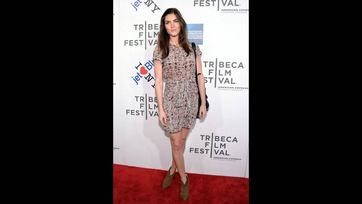 """Model Hilary Rhoda attends the premiere of """"Last Night"""" during the 2011 Tribeca Film Festival at BMCC Tribeca PAC on April 25, 2011 in New York City."""