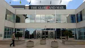 The Globe and Mail building on Front Street West in Toronto.