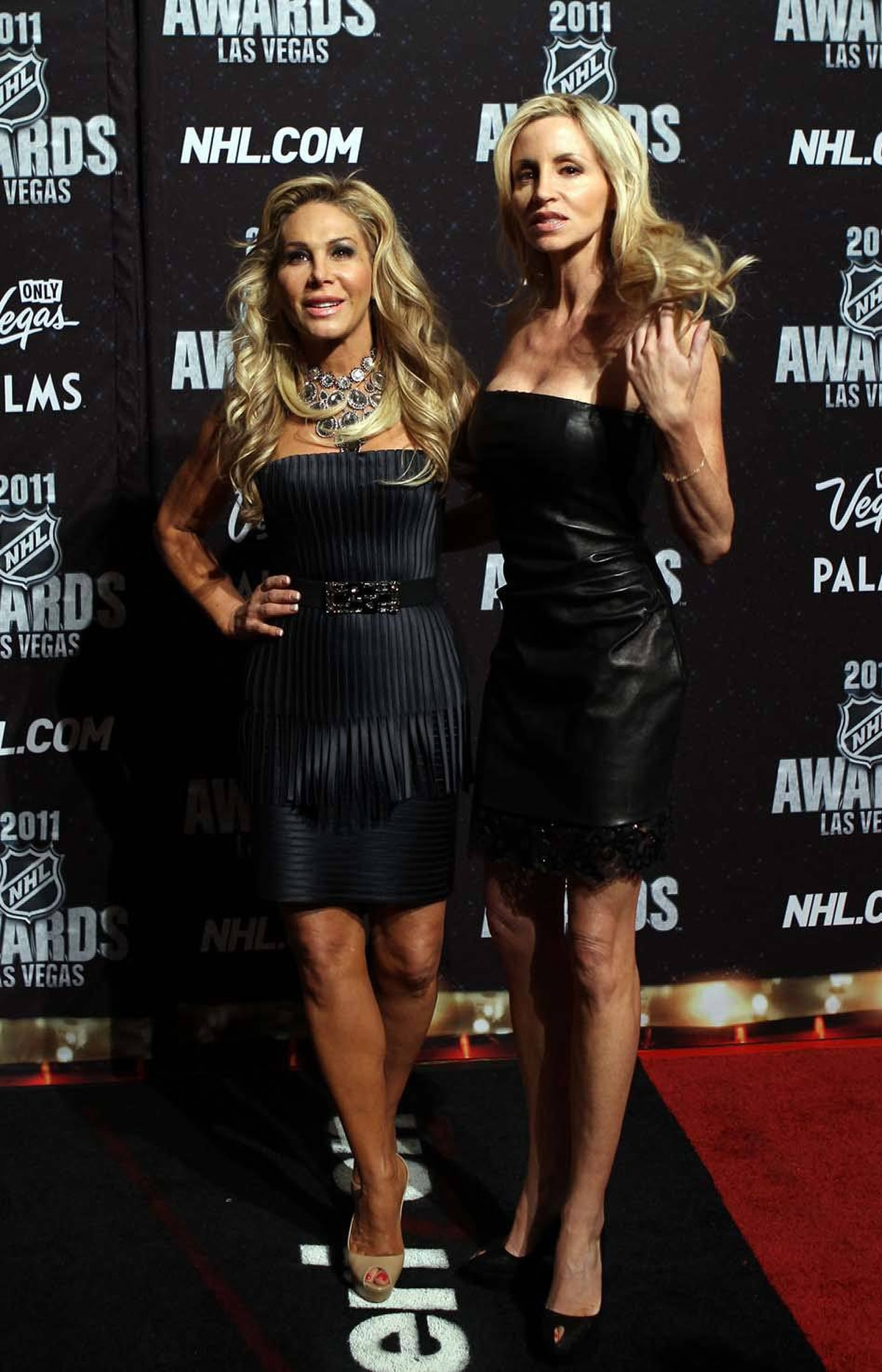 (L-R) TV personality's Adrienne Maloof and Camille Grammer arrive at the 2011 NHL Awards at the Palms Casino Resort June 22, 2011 in Las Vegas, Nevada.