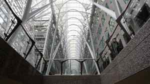 A view of the skylight at Brookfield Place in Toronto.