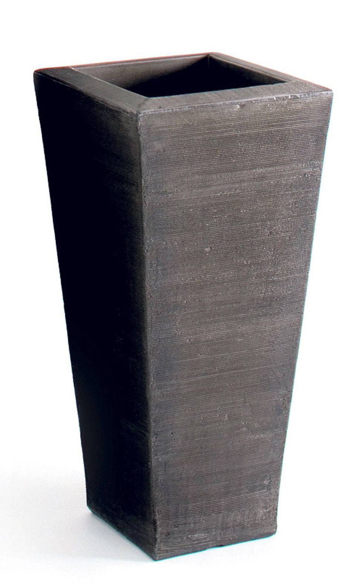 Crescent's Chelsea Planter is made of lightweight resin and comes in 18 colours, from classic black and pewter to dramatic red and marble. 15-inch planter, $185 through www.andrewricharddesigns.com.