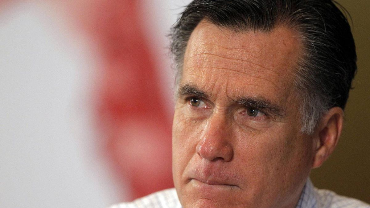 Republican presidential candidate and former Massachusetts Governor Mitt Romney listens during a roundtable discussion about housing issues in Tampa, Florida January 23, 2012.
