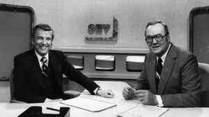 Lloyd Robertson, left, joins Harvey Kirck to co-anchor the CTV National News on Oct. 14, 1976. When Mr. Kirck retired in 1983, Mr. Robertson became the network's senior news anchor.
