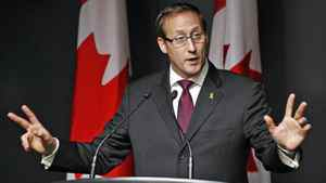 Defence Minister Peter MacKay speaks during a news conference at National Defence headquarters in Ottawa on Feb. 14, 2012.