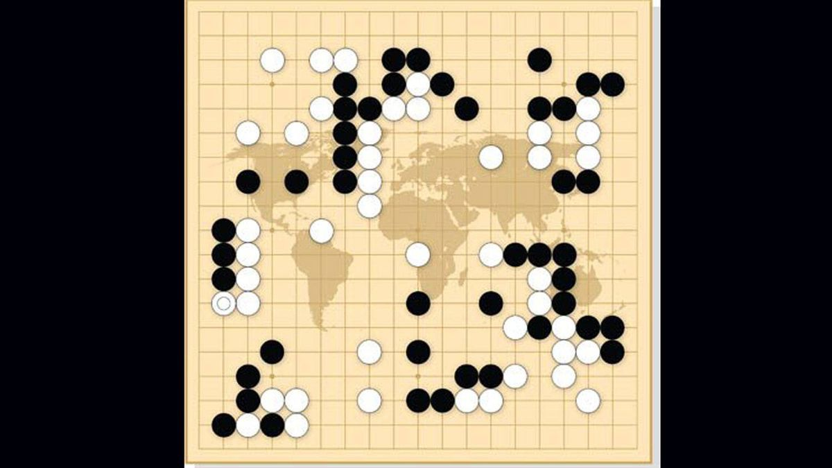 The moves in this game are intended to represent global politics, and are not part of an actual game.