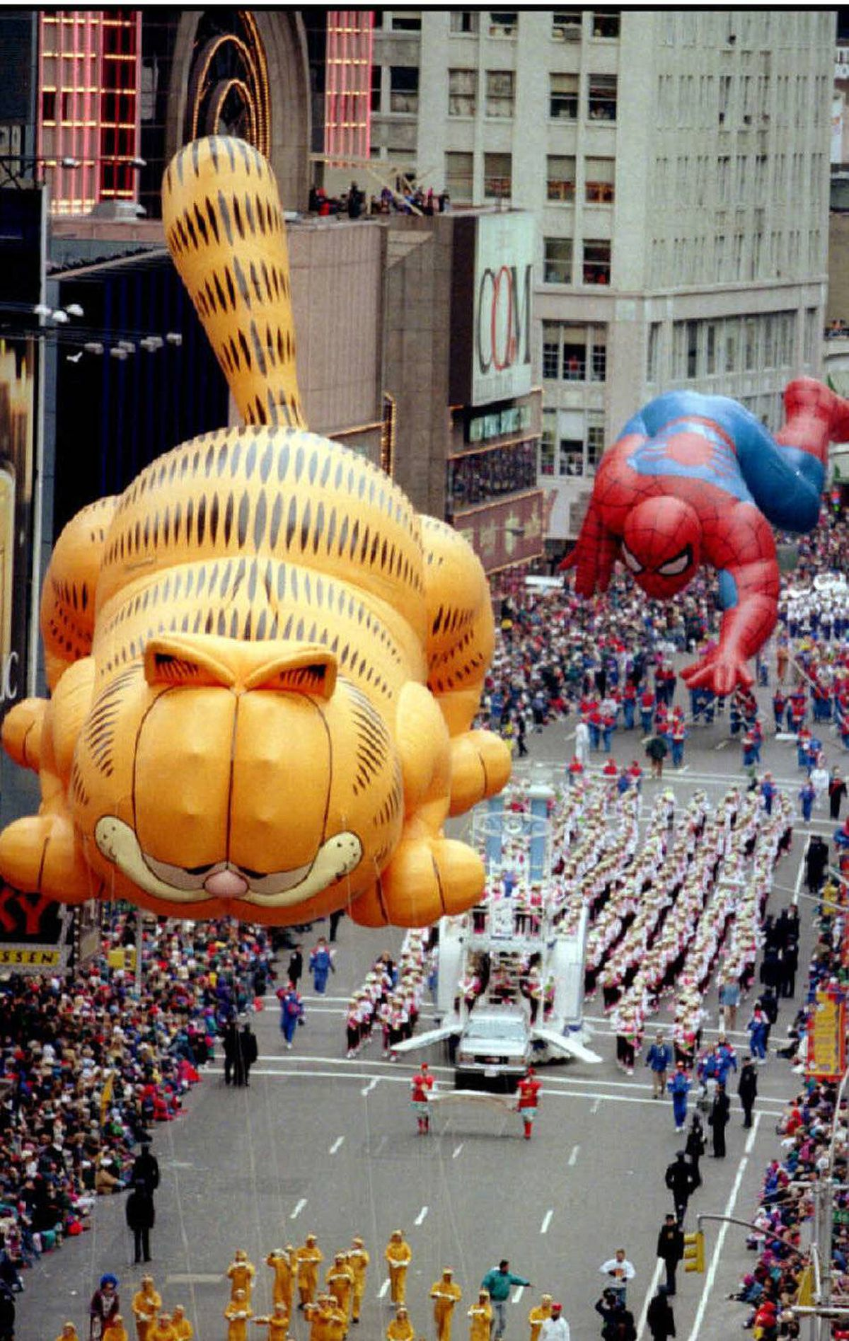 Here's a movie plot that's sure to be a hit: Garfield and Spider-Man team up to fight crimes against lasagna. Year: 1995