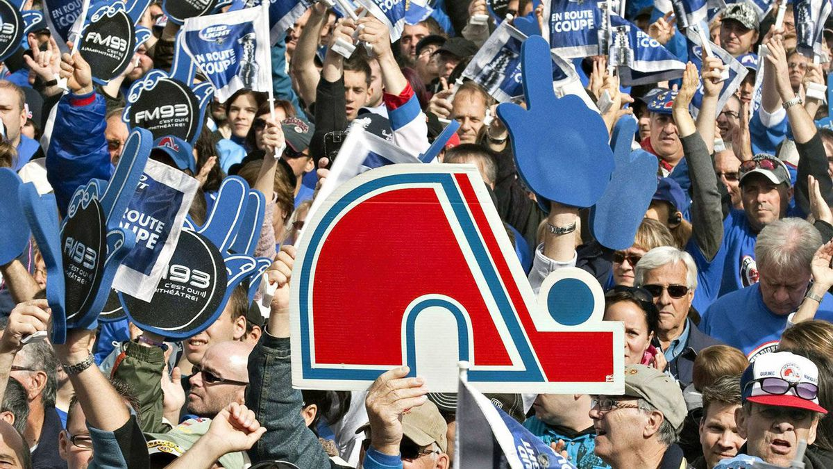 Hordes of hoceky fans gather on on the Plains of Abraham in Quebec calling for the return of an NHL franchise and a new arena to the provincial capital on Oct. 2, 2010.