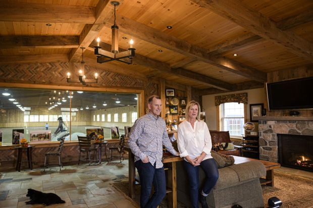 Favourite Room: For this horse-obsessed family, inspiration for their barn-turned-family room came from Europe