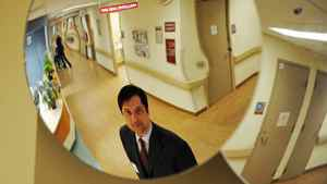 Robert Biron, president and CEO of Northumberland Hills Hospital, asked the public for help with budget cuts.