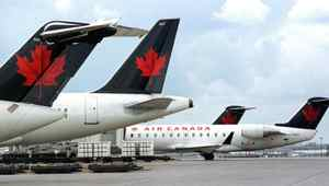 File photo of Air Canada planes at the Toronto's Pearson Airport.