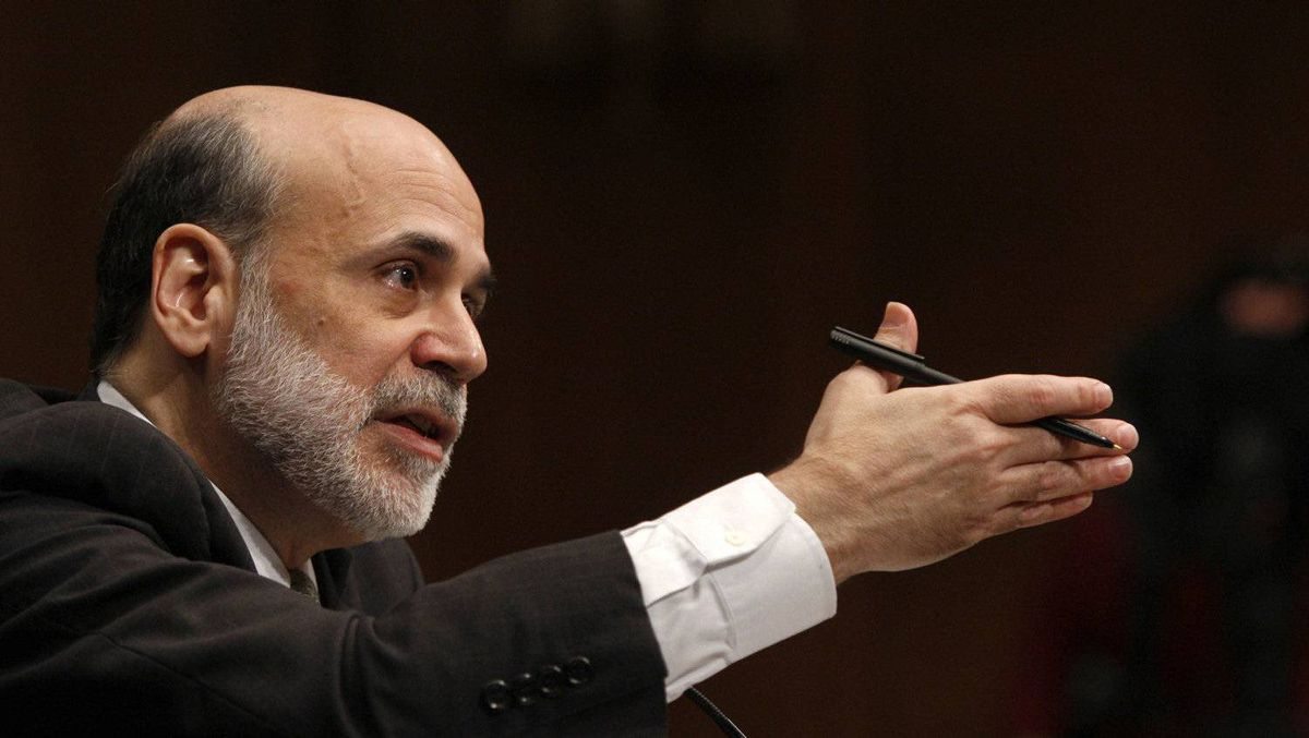 U.S. Federal Reserve chairman Ben Bernanke. Fed policy makers will gather for a two-day meeting on Tuesday.