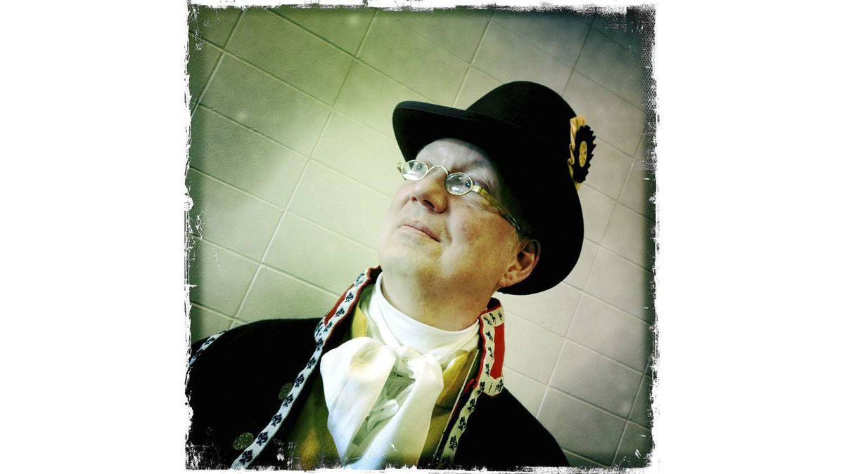 Paul Roberts, of Kitchener, Ont., dressed as a livery servant.