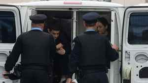 Hamed Shafia and Tooba Mohammad Yahya arrive at the Frontenac County Court House in Kingston on Monday, Jan. 23, 2012.