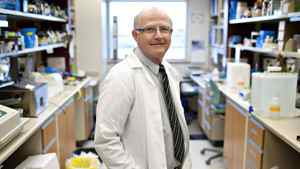 Recipient of the 2012 Canada Gairdner Award, Dr. Lorne Babiuk is pictured in the labs at the Katz Group Centre for Pharmacy and Health Research.