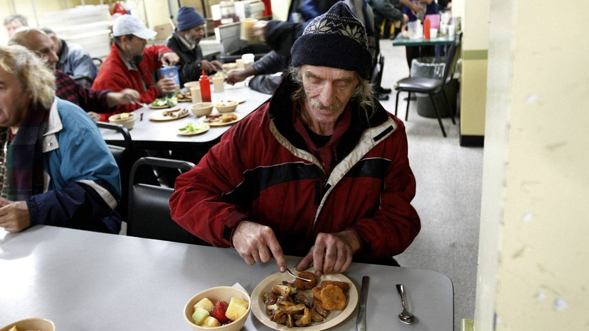 Edward Czarnecti, eating his lunch at The Good Neighbors Club in Toronto on Oct. 26, 2011, is one of the 300 people who are given daily meals at the agency that receives funds from the United Way.