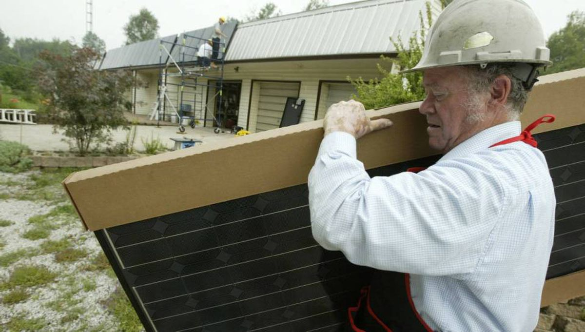 Sixty nine-year-old Ray Dawson is running a small business again after being retired for 4 years. His company is installing solar panels in the Sault Ste. Marie area.