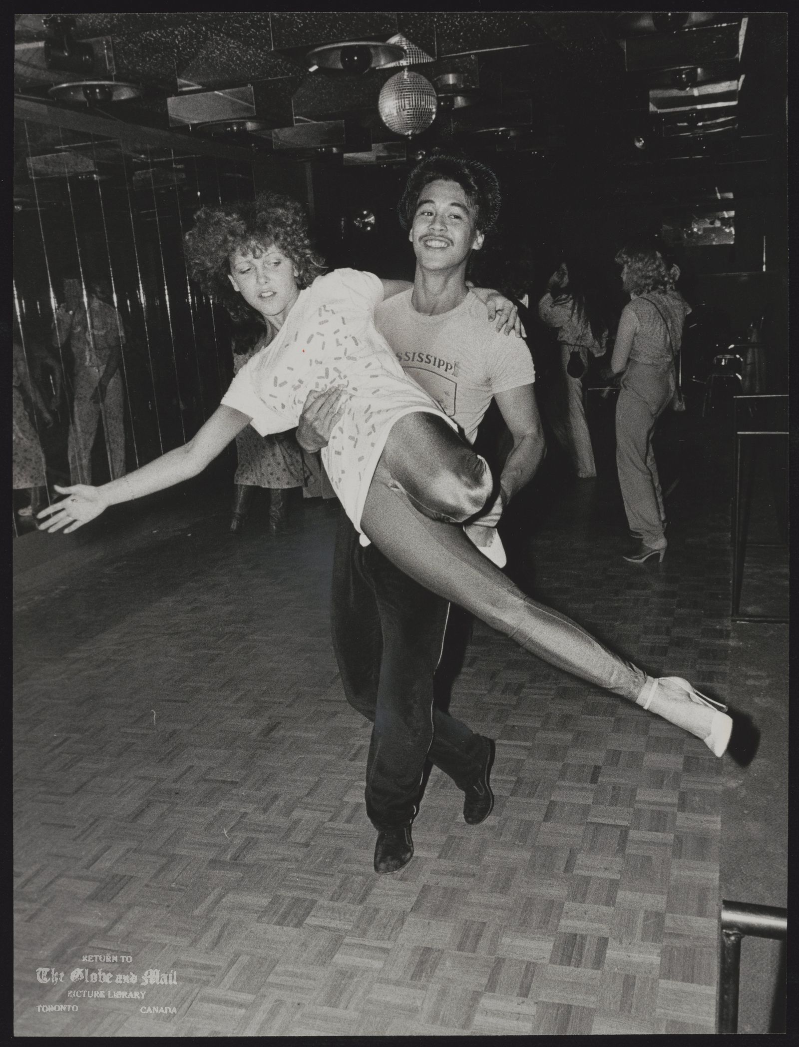 DANCING Jerry Olicia and Suzanne Taylor at Ona's disco.