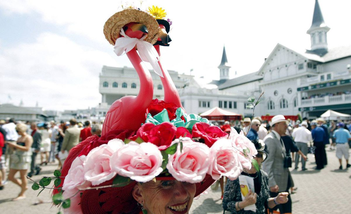 One flamingo on your hat was so last century. This is 2012, dear, and two is the only way to go.