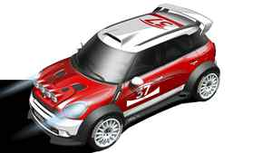 2010 Mini John Cooper Works World Championship 50 Credit: BMW *** Local Caption *** Designskizze des MINI Countryman WRC (07/2010)