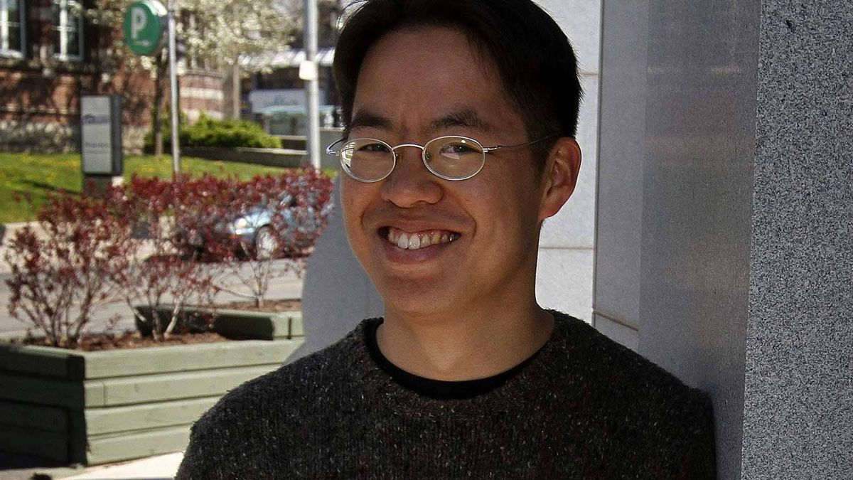 Author Vincent Lam poses for a portrait on Gerrard St. near Toronto's Chinatown East on April 19, 2012.