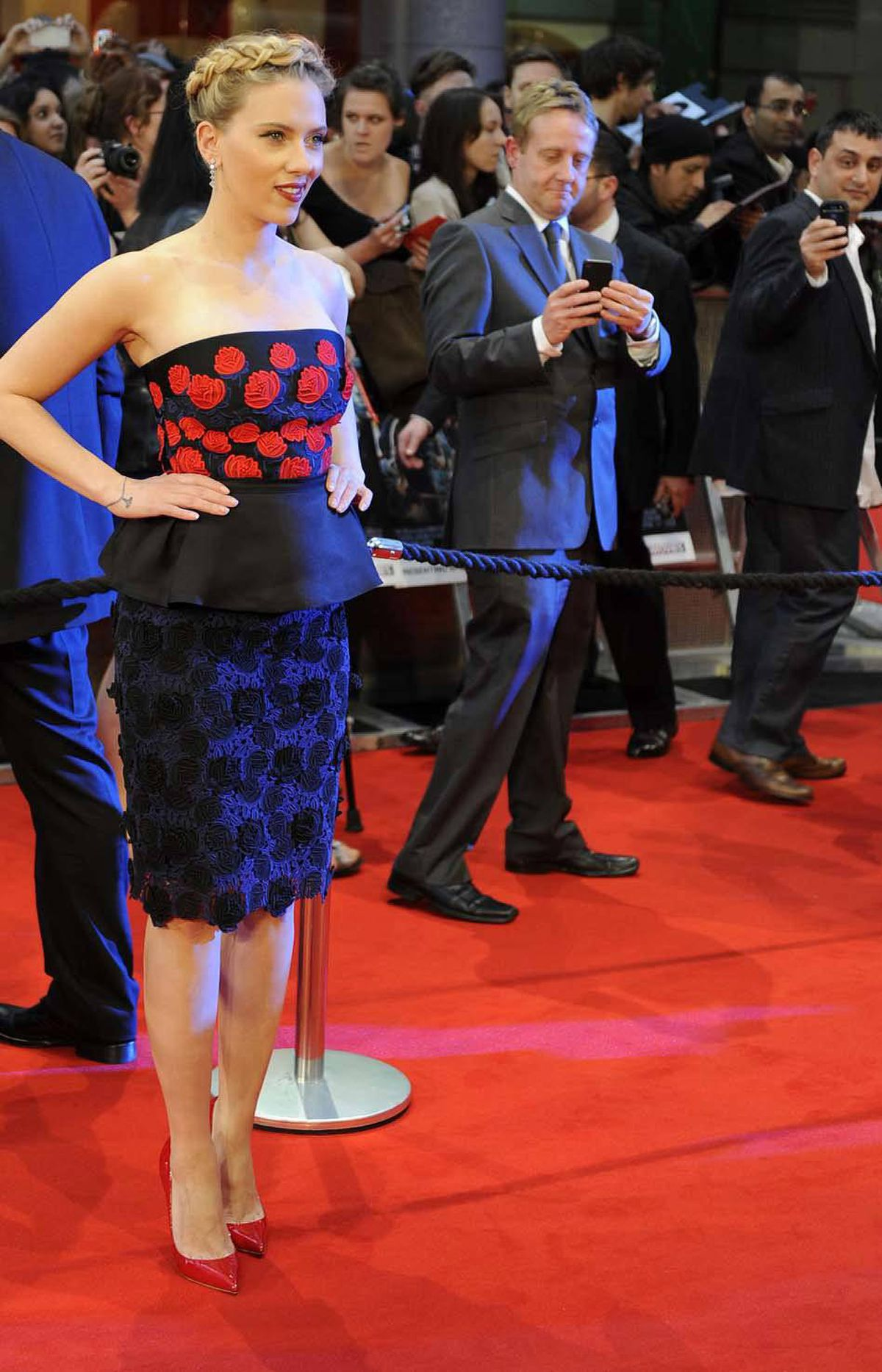 ". . . Or Hollywood starlet Scarlett Johansson, also at the ""Avengers Assemble"" premiere in London last week."