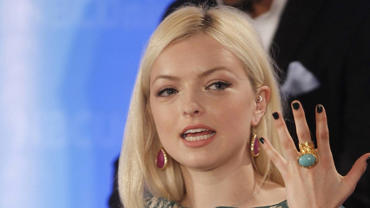 """Reality series """"Mrs. Eastwood and Company"""" cast member Francesca Eastwood, daughter of director Clint Eastwood, answers a question during a panel discussion at the NBC Universal Summer Press Day 2012 in Pasadena, Calif., April 18, 2012."""