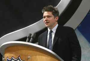Owner Oren Koules of the Tampa Bay Lightning announces the first pick of the 2008 NHL Entry Draft at Scotiabank Place on June 20, 2008 in Ottawa, Ontario, Canada.