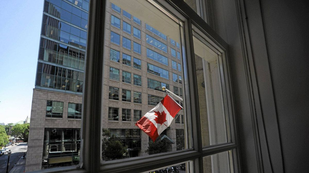 The view from what used to be Conrad Black's corner office at 10 Toronto St..