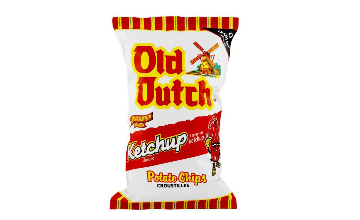 Ketchup chips - As iconically Canadian as milk-in-a-bag, they're an underrated staple of summer backyard barbecues and winter Hockey Night in Canada-viewing. Crispy, tangy, salty and sweet, they stimulate all the senses – and stain your fingers a patriotic bright red.