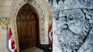 The doors to the Commons stand closed with the House in recess on March 14, 2011.