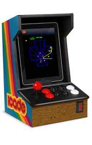 Ion iCade Arcade Cabinet for iPad Decadent, ridiculous, and yet undeniably awesome, this wooden iPad case/stand turns Apple's tablet into an old-school arcade machine, complete with an authentic joystick and eight arcade buttons. The only thing that would make it better is if you could plug quarters into its faux 25-cent slot to purchase apps like Asteroids and Centipede. ($99.99; www.ionaudio.com)