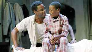 "Charles Officer and Kofi Payton in Soulpepper's ""A Raisin in the Sun""."
