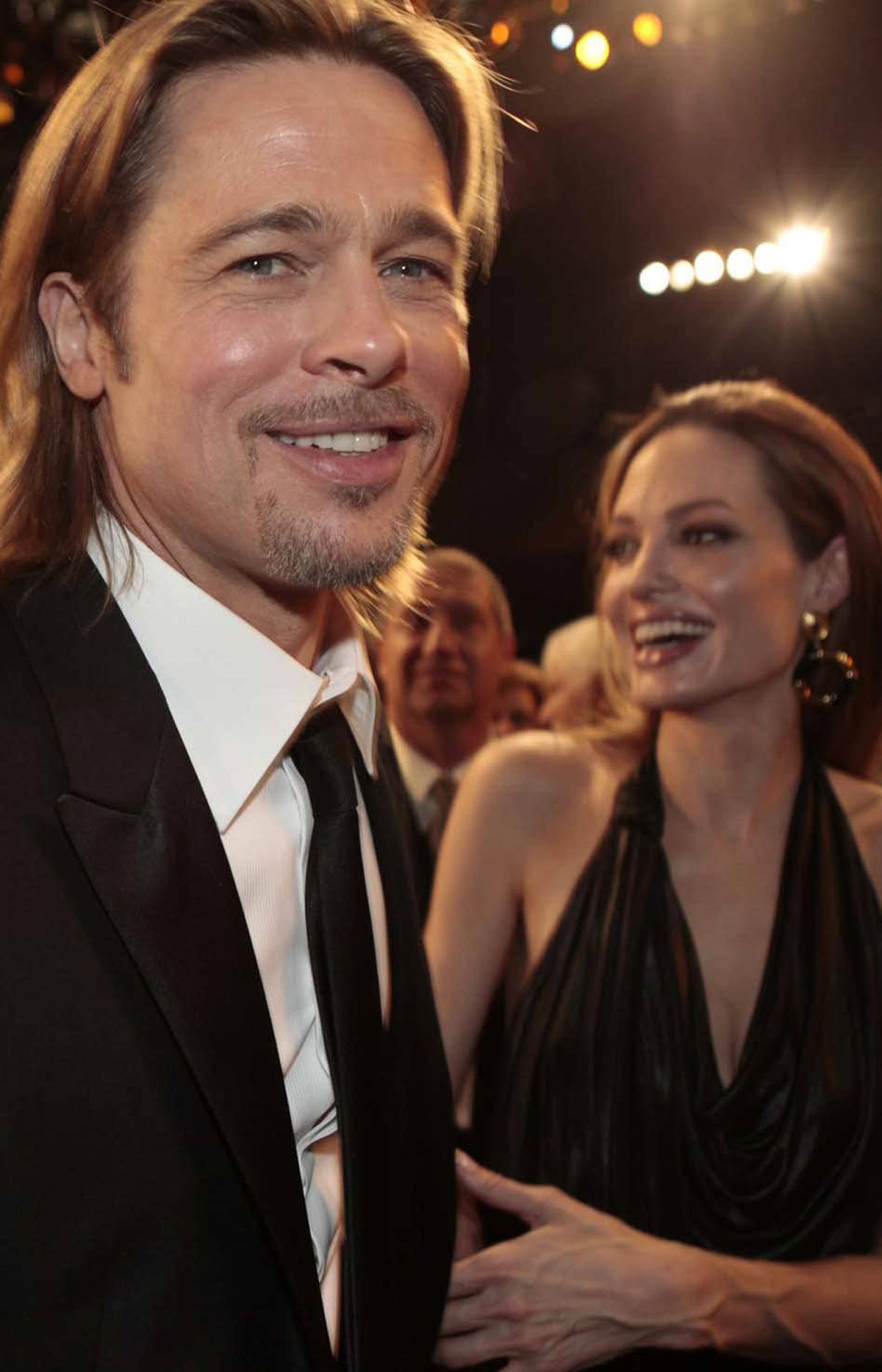 """Awesome!"" says Brad Pitt with his bitumenesque beauty at the SAG awards Sunday. ""Another!"""
