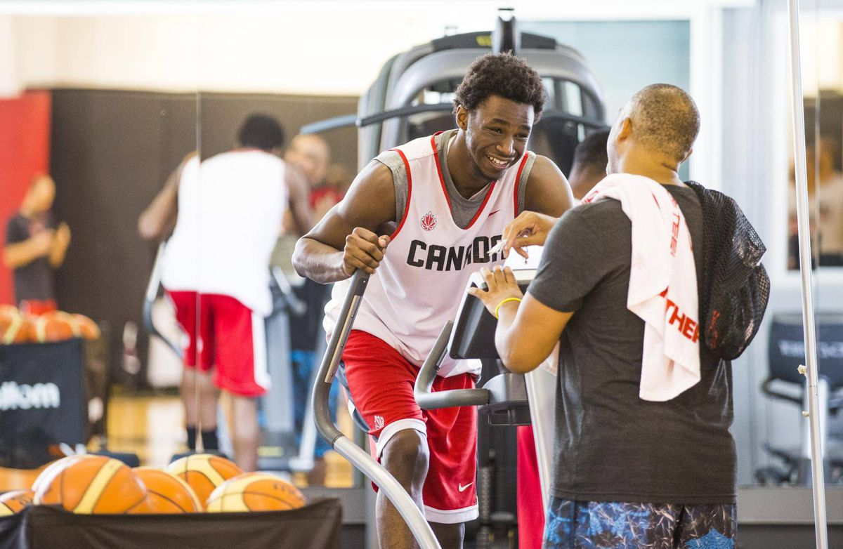 Canadian men's basketball readies for Olympic qualifying ...