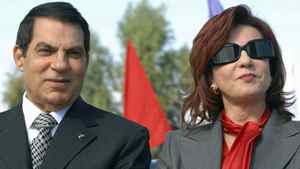Zine El Abidine Ben Ali and his wife Leila are seen in Rades, outside Tunis, marking the 20th anniversary of his presidency on Nov. 7, 2007.