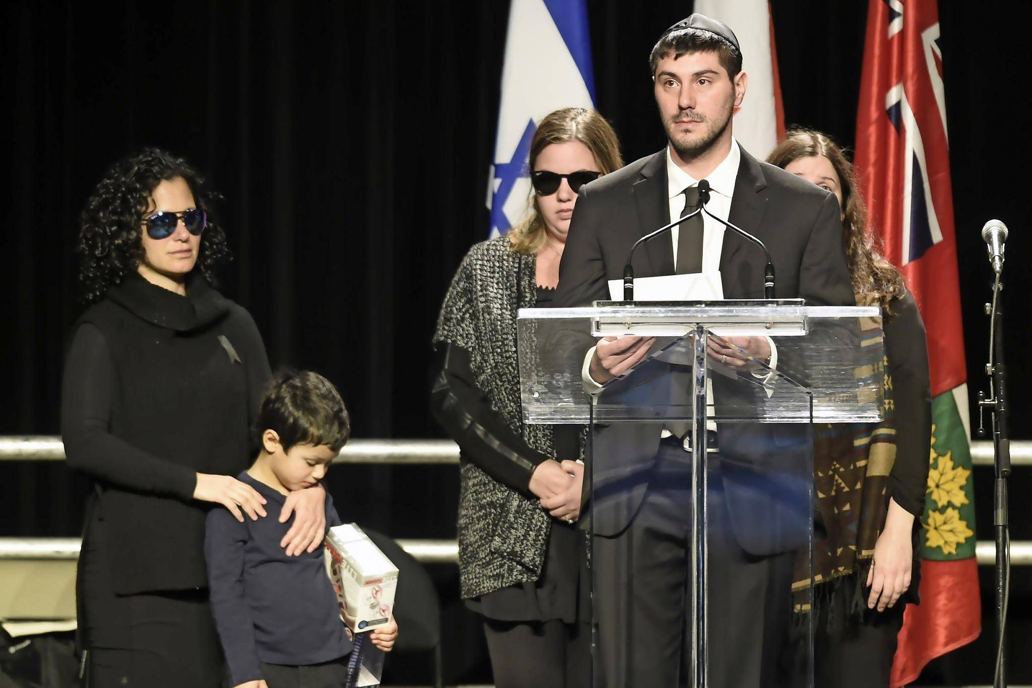 Son of Barry and Honey Sherman delivers a tearful and angry