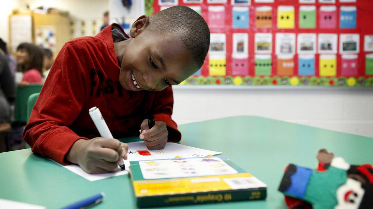 In three months of full-day kindergarten, Mekhi Rutherford, 5, has gone from sounding out words to reading anything he wants.