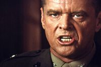 Jack Nicholson is shown in the 1992 film A Few Good Men. Courtesy of the Everett Collection