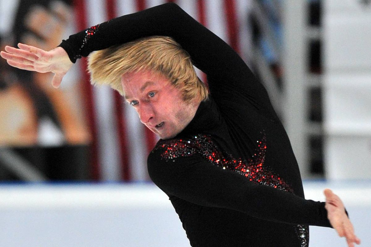 Evgeni Plushenko of Russia performs his short program at the ISU Grand Prix Rostelecom Cup in Moscow on Friday.