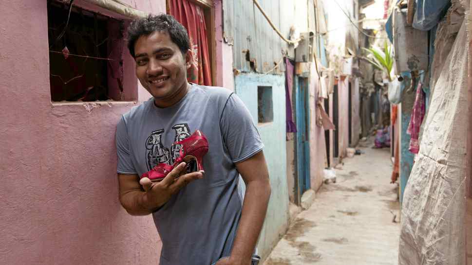 Jameel Shah, 31, ran away from home at 14 and in Mumbai 16 years ago looking for a better future. Now he runs a cobbler shop that specializes in making dance shoes.