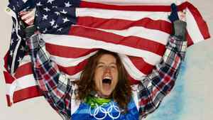 Shaun White, of the United States, celebrates his gold medal in the men's snowboard half-pipe finals at Cypress Mountain in West Vancouver, B.C., Wednesday February 17, 2010, at the 2010 Vancouver Olympic Winter Games. FILE PHOTO: THE CANADIAN PRESS/Sean Kilpatrick